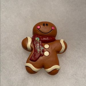 Jewelry - Gingerbread Man Pin and earrings set
